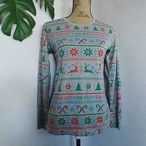 Brooks Tops - Brooks Christmas Run Jolly L/S Shirt Top